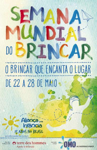 cartaz semana mundial do brincar
